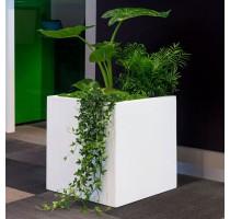 Fiberstone Square Glossy White 50x50x50cm