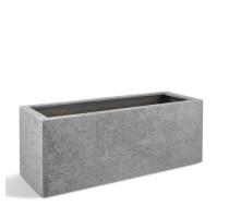 D-lite truhlík M hrubý šedý 90x40x40cm