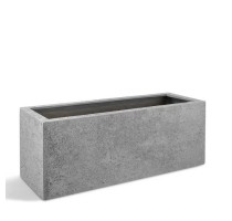 D-lite truhlík S hrubý šedý 80x30x30cm