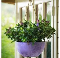 Závěsný květináč Fiona fialová 25x12cm