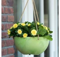 Závěsný květináč Fiona zelená 25x12cm