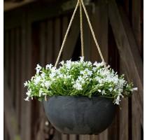 Závěsný květináč Fiona černá 25x12cm