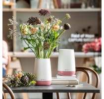 Váza Lechuza Yula Trend bílo-růžový komplet