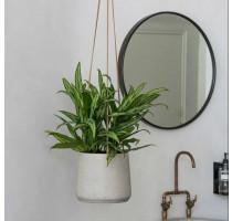 Závěsný květináč Patt M šedý 17x14cm
