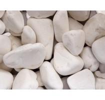 Dekorativní bílé valouny 3 až 6cm 25kg