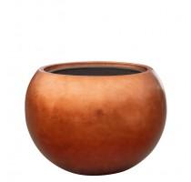 Metallic globe copper 60x43cm