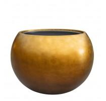 Metallic globe honey 60x43cm