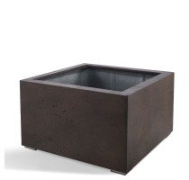 D-lite Low Cube M Rusty Iron Concrete 80x80x60cm