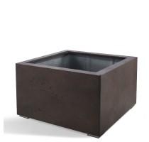 D-lite Low Cube L Rusty Iron Concrete 100x100x60cm