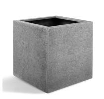 D-lite Cube L hrubý šedý 50x50x50cm