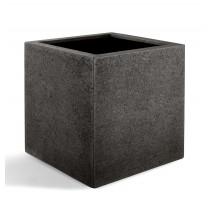 D-lite Cube L hrubý tmavě šedý 50x50x50cm