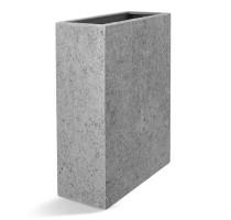 D-lite vysoký truhlík hrubý šedý 60x24x74cm
