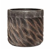 Lite Universe Wave Cylinder Bronze 33x31cm