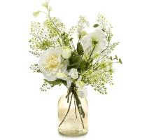 Umělá kytice bílá Giftbox