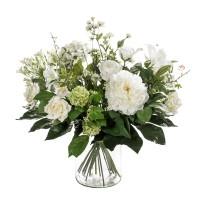 Umělá kytice bílá mix 20 stonků