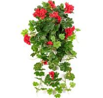 Umělé Geranium červené 72cm