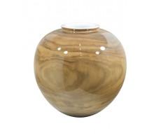 Váza Woody Vase Shiny 31x29cm