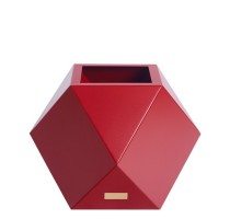 Květináč Kasper Diamant S červený 40x40xV40cm
