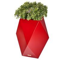 Květináč Kasper Diamant L červený 47x47xV80cm