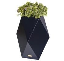 Květináč Kasper Diamant L černý 47x47xV80cm
