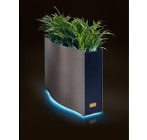 Kasper Wave LED nerez / černý 80x33x61cm
