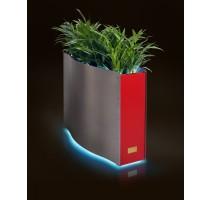 Kasper Wave LED nerez / červený 80x33x61cm