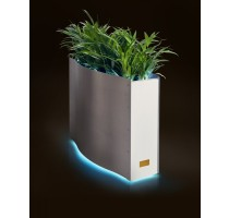 Kasper Wave LED nerez / bílý 80x33x61cm