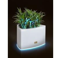 Květináč Kasper Triangle LED S bílý 57x60xV37cm
