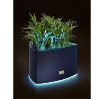 Květináč Kasper Triangle LED S černý 57x60xV37cm