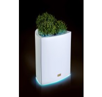 Květináč Kasper Triangle LED L bílý 57x60xV73cm