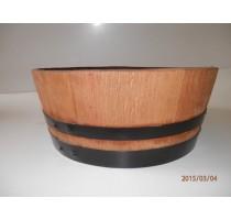 Barikovaný dubový květináč 55 litrů 63x24cm