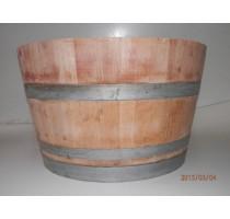 Barikovaný dubový květináč natural 110 litrů 70x48cm