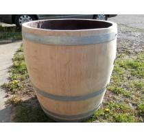 Barikovaný dubový květináč natural 170 litrů 63x72cm