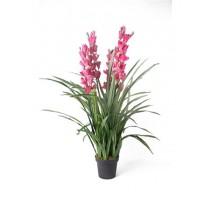 Umělá Orchidej Cymbidium Purple 110cm