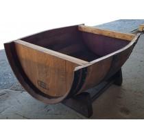 Barikovaný dubový truhlík tmavý 95x60cm